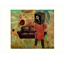 Vintage Mania Throw Pillow Art Print