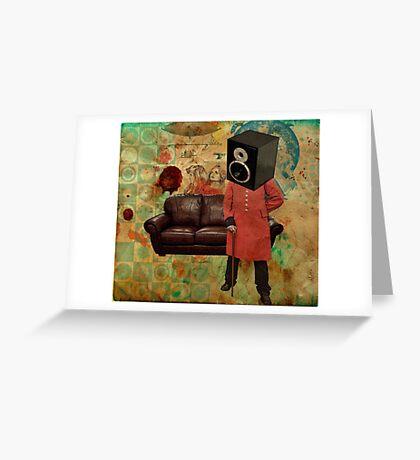 Vintage Mania Throw Pillow Greeting Card