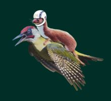 Flying Woodpecker Weasel Knievel Meme T-Shirt
