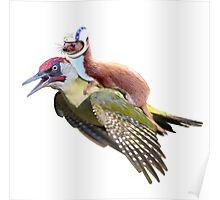 Flying Woodpecker Weasel Knievel Meme Poster