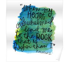 Psalm 61:2 Watercolor Print Poster