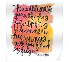 Psalm 91:4 Poster