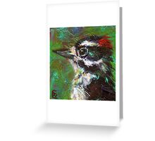 Reasons to Be Cheerful: Downy Woodpeckers Greeting Card