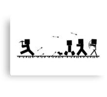 Minecraft chase Canvas Print