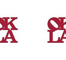 OKLA (Crimson) Mug or Travel Mug by okjane