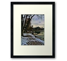 Frosty Lake Framed Print