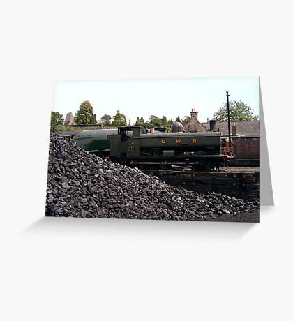 Steam on Shed Greeting Card