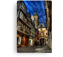 Rue du Gros Horloge Canvas Print
