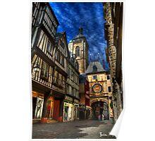 Rue du Gros Horloge Poster