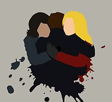 Swan-Mills Family Hug by OliveTreeHouse