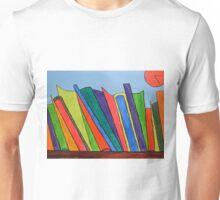 Books on shelf Unisex T-Shirt