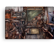 Steampunk - Machine - All the bells and whistles  Canvas Print