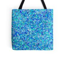 Abstract motley geometric background formed by blue, green and lilac quadrangles Tote Bag