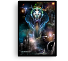 Thera Queen Of The Galaxy Canvas Print