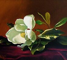 Still Life with White Flower by Daniel Aragó