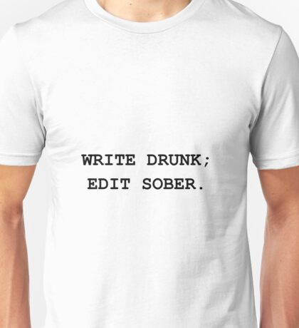 Edit Sober Unisex T-Shirt