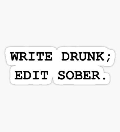 Edit Sober Sticker