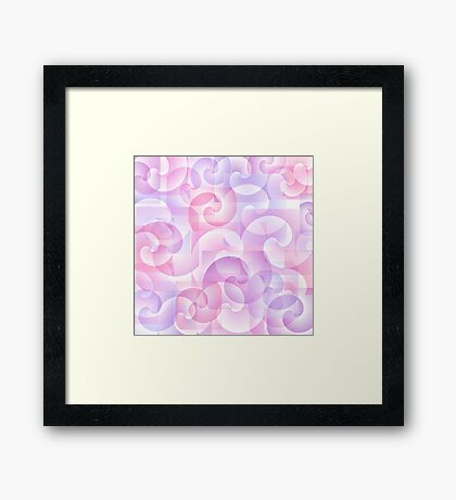 Abstract spiral background Framed Print