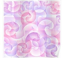 Abstract spiral background Poster