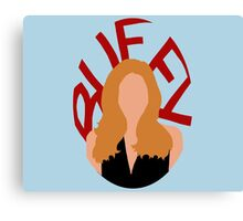 Buffy Silhouette  Canvas Print