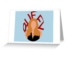 Buffy Silhouette  Greeting Card