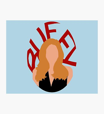 Buffy Silhouette  Photographic Print