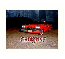 Christine - from the mind of horror writer stephen King Art Print