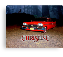 Christine - from the mind of horror writer stephen King Canvas Print