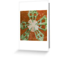 Lime Windmill Greeting Card