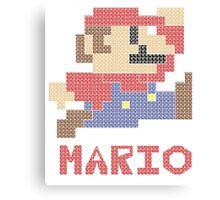 Pixel Mario Canvas Print