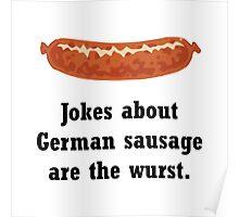 German Sausage Pun Poster
