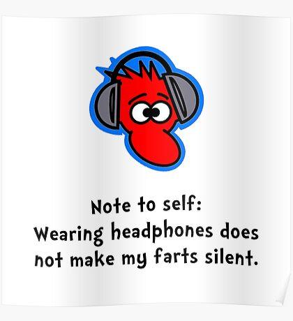 Headphone Farts Poster