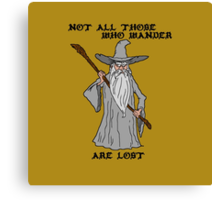 Gandalf The Lost Canvas Print