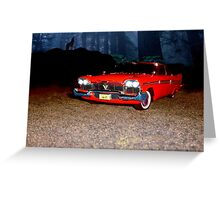 Plymouth fury 1958 Greeting Card