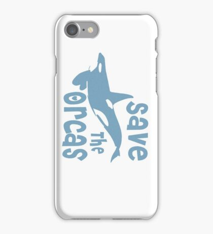 Save The Orcas iPhone Case/Skin