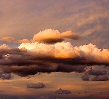Sunset over the canyon by NomadicShock