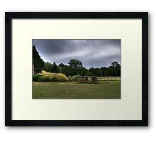 Rural landscape - HDR Framed Print
