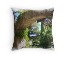 Winery Gateway Throw Pillow