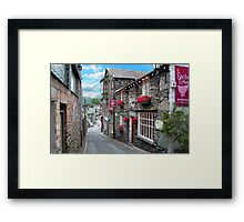 Slate Houses in the Lake District - Reworked Framed Print