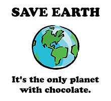 Save Earth Chocolate by TheBestStore