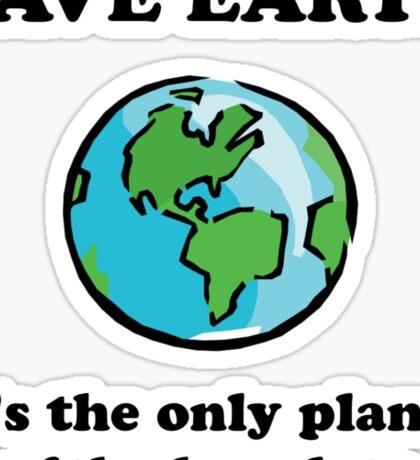 Save Earth Chocolate Sticker