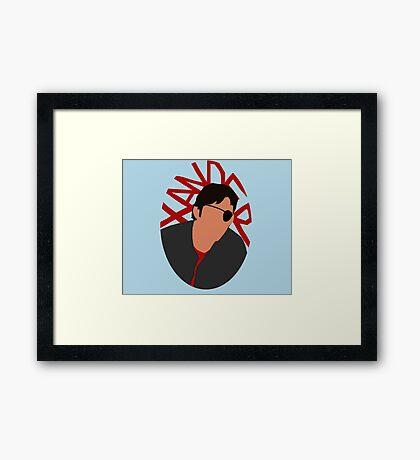 Xander Silhouette Framed Print