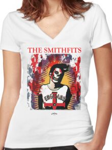 The Smithfits - Our Lady of Perpetual Horror Women's Fitted V-Neck T-Shirt