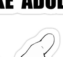 Settle Like Adults Sticker