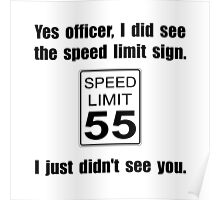 Speed Limit Poster