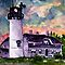 Chilmark Lighthouse Painting Marthas Vineyard Massachusetts by derekmccrea