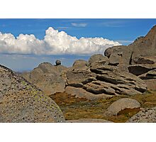 Clouds and rocks Photographic Print