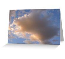 unbelievable sherbert clouds Greeting Card
