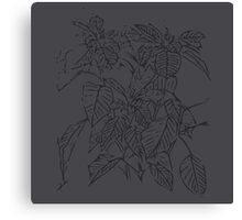The Plant (space grey) Canvas Print