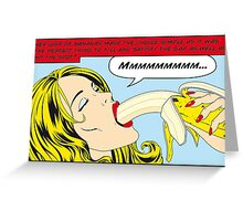 Banana Love (makes you feel good inside)  Greeting Card